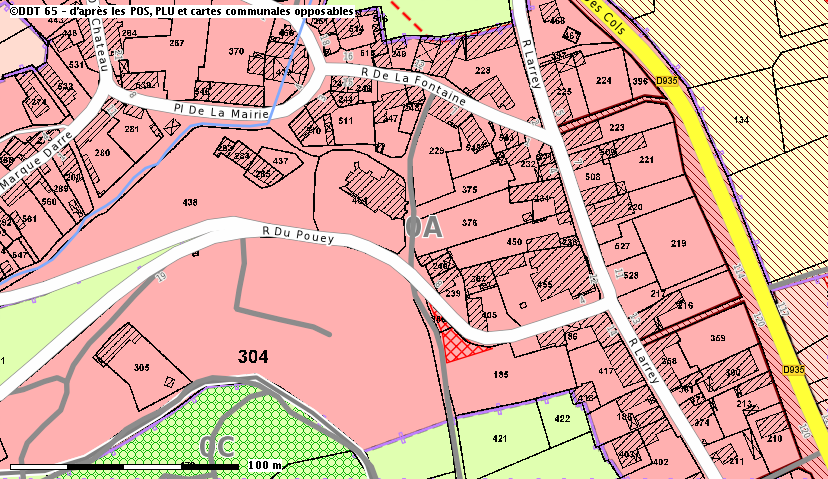 Beaudéan-Eglise-alentour-Représentation des documents d'urbanisme - DDT 65