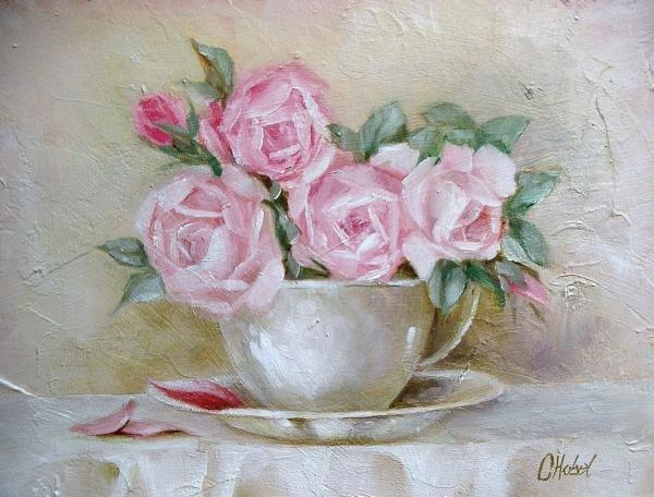 Bouquet dans un vase, une corbeille, une coupe, une poterie  - Page 2 190131052250525136