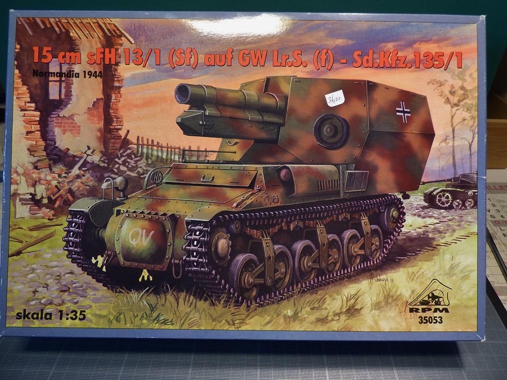 15 cm sFH.13/1 auf Geschutzwagen Lorraine-Schlepper Sd.Kfz. 135/1   RPM 1/35 ème  190210104757258633