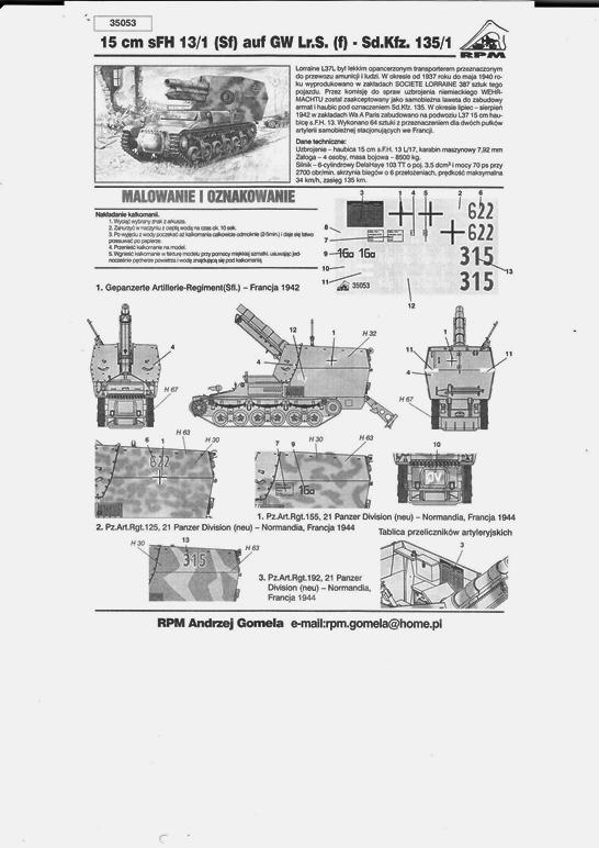 15 cm sFH.13/1 auf Geschutzwagen Lorraine-Schlepper Sd.Kfz. 135/1   RPM 1/35 ème  190210104945730910