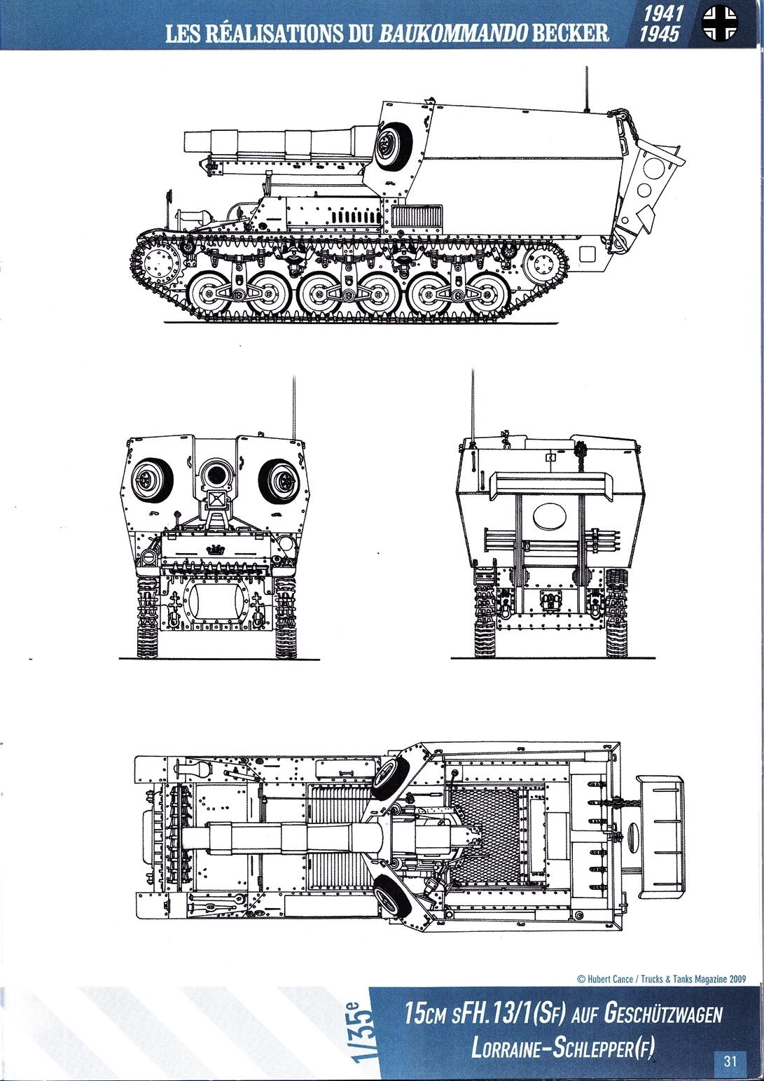 15 cm sFH.13/1 auf Geschutzwagen Lorraine-Schlepper Sd.Kfz. 135/1   RPM 1/35 ème  190210105047329745