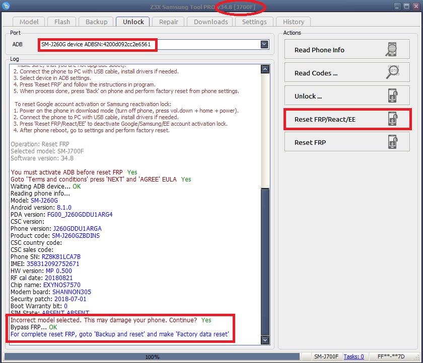 طريقة تخطي حساب frp لـ J2 Core SM-J260G 8 1 0