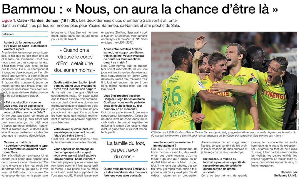 [23e journée de L1] SM Caen 0-1 FC Nantes 19021207553930343