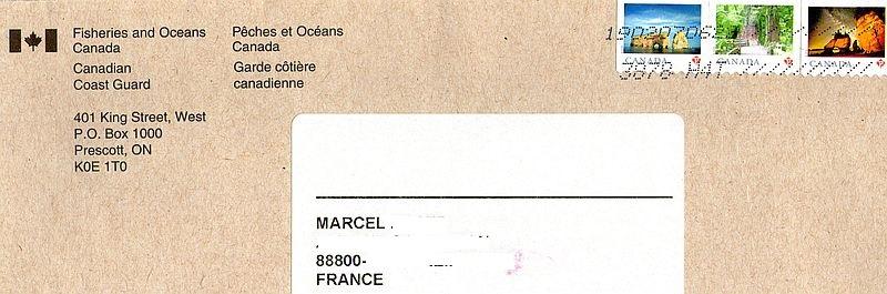 Lettre-QSL du MCTS Prescott Canada 190213021603590789