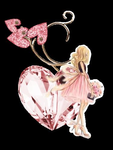souriscat jolie fille en rose
