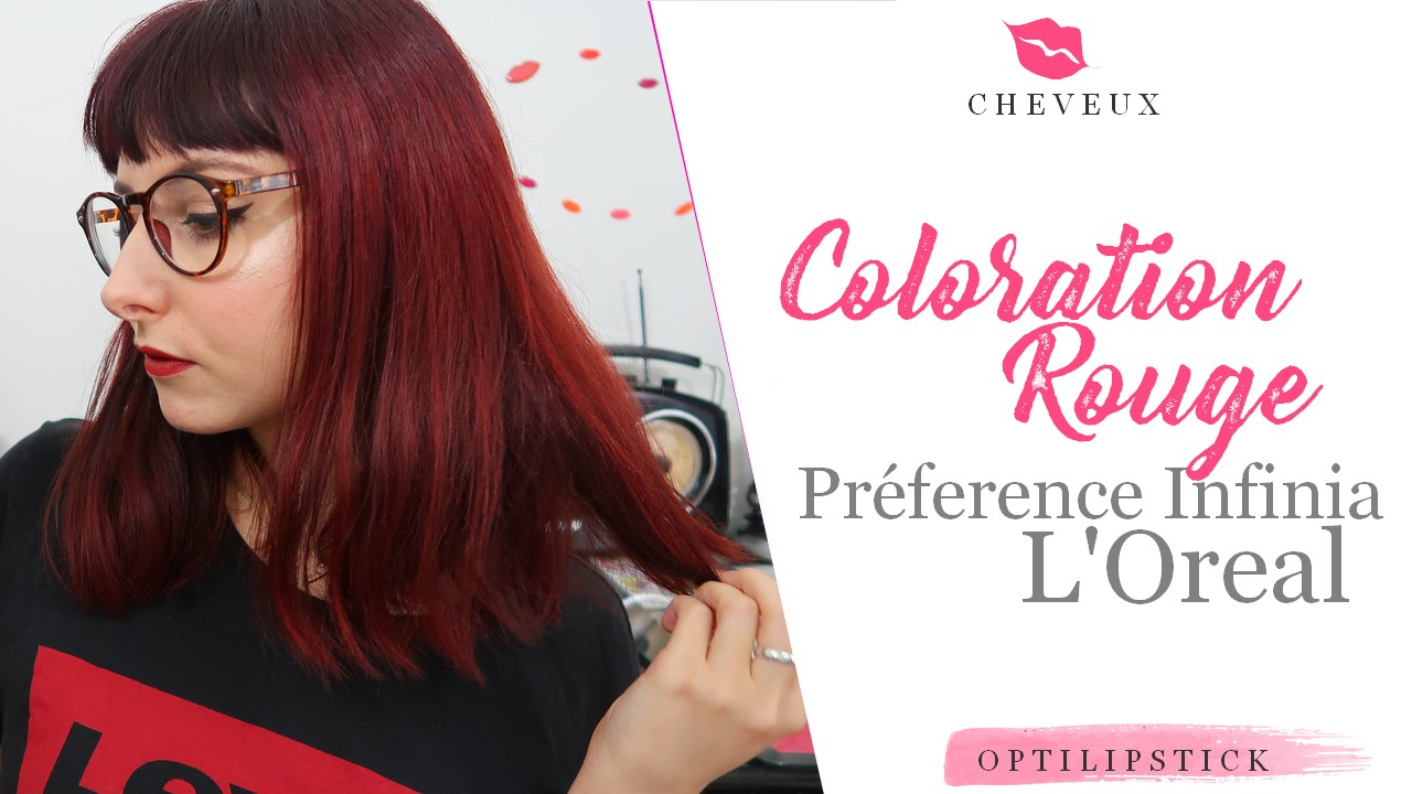 avis coloration preference infinia rouge
