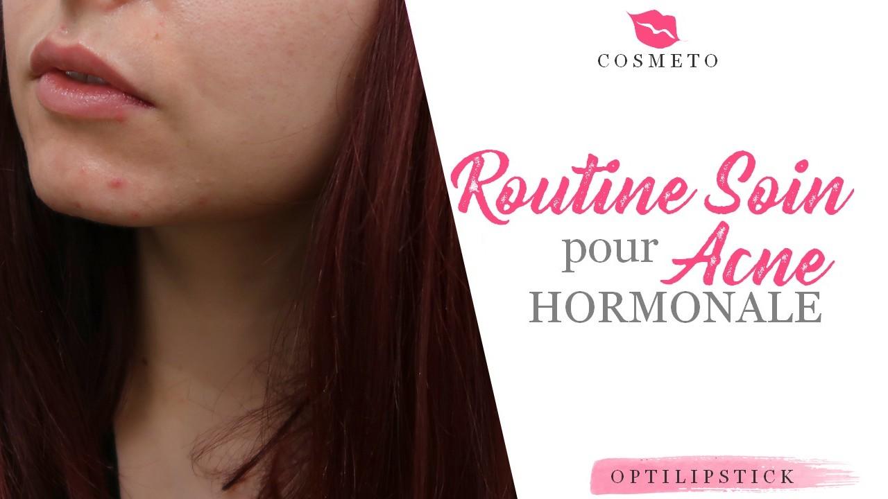routine acne hormonale soin