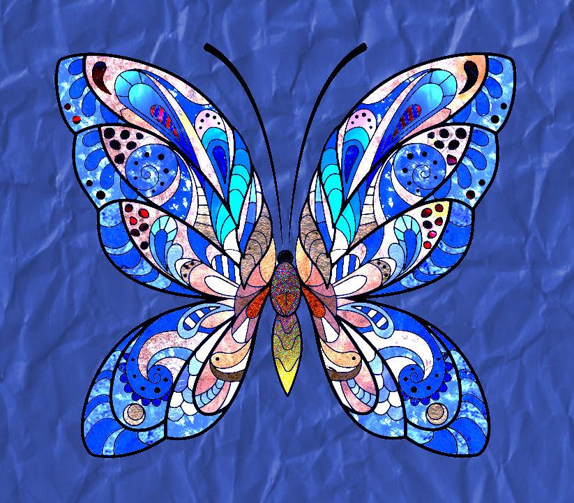 coloriage-papillon-jolis-motifs-2e