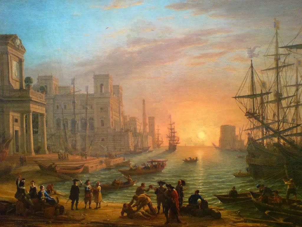 Lorrain+Claude+-+Port+de+mer+au+soleil+couchant+-+1639.