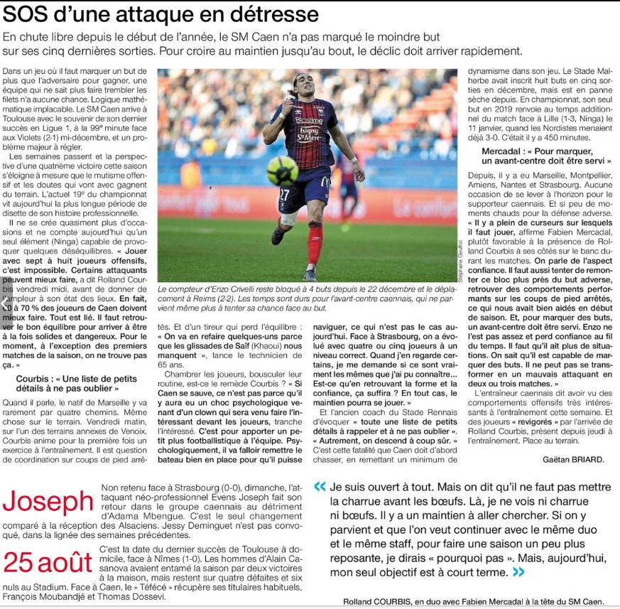 [26e journée de L1] Toulouse FC 1-1 SM Caen 190224091310359839