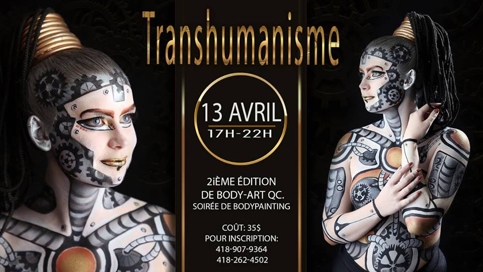 transhumanisme - canada - quebec - body painting