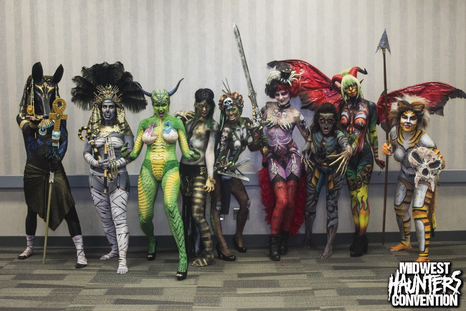 mhc mindwest haunters convention body painting