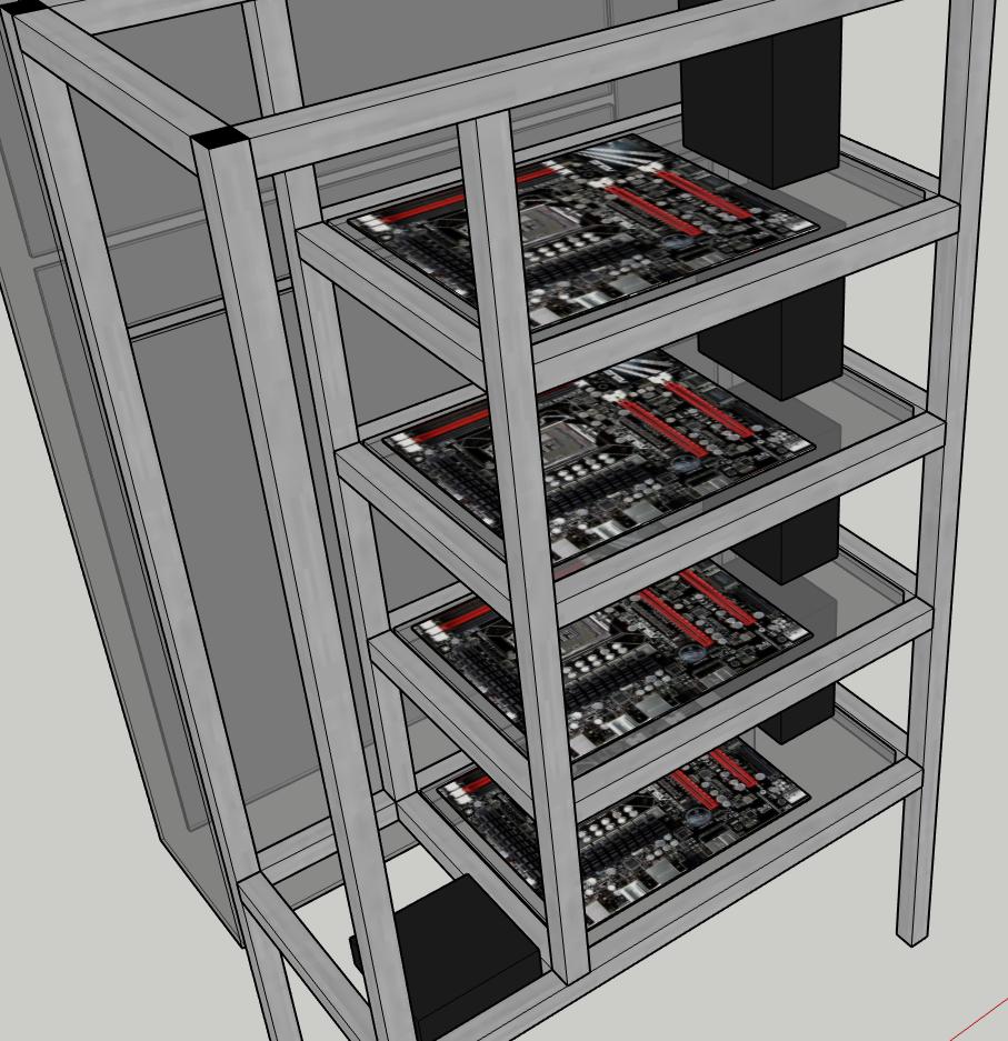 Plaque PC sur chassis