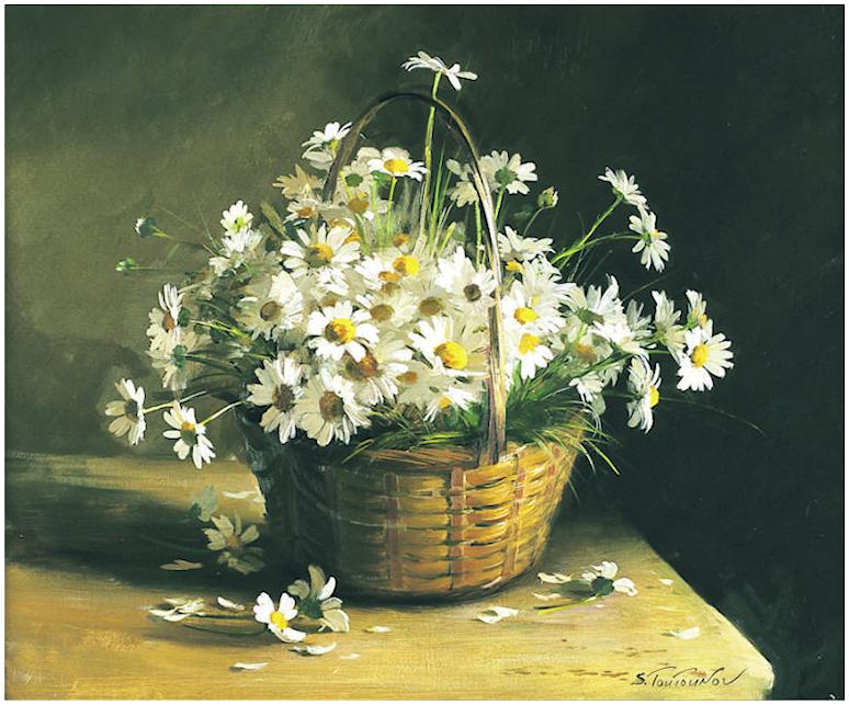 Bouquet dans un vase, une corbeille, une coupe, une poterie  - Page 2 190401121452963982
