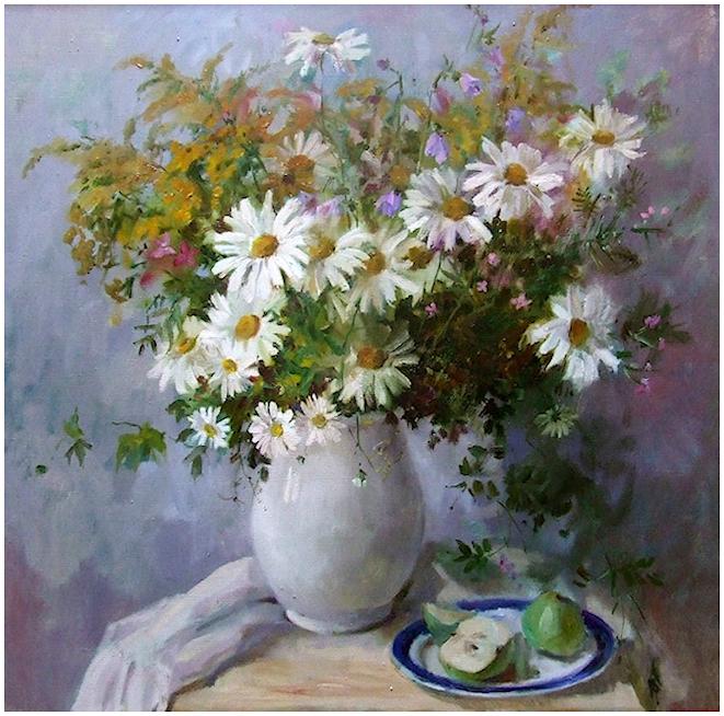 Bouquet dans un vase, une corbeille, une coupe, une poterie  - Page 2 190401121722563458