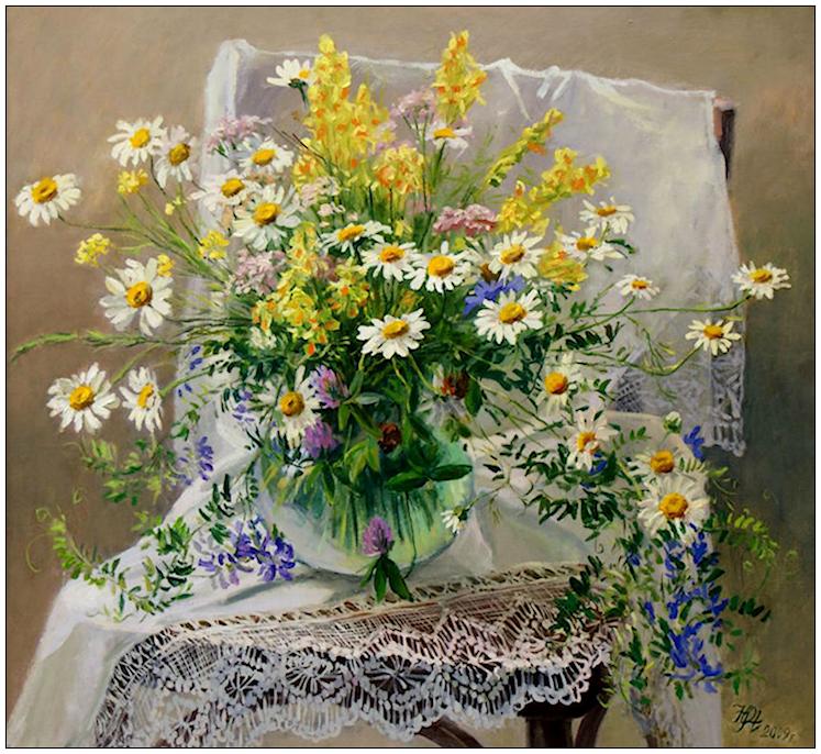 Bouquet dans un vase, une corbeille, une coupe, une poterie  - Page 2 190401121936181650