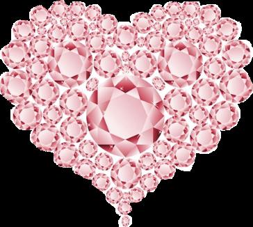 zezette coeur en diamant rose