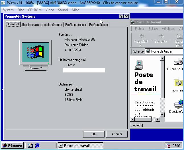 Windows 98 sur un 386 - Page 2 - Win3x Org