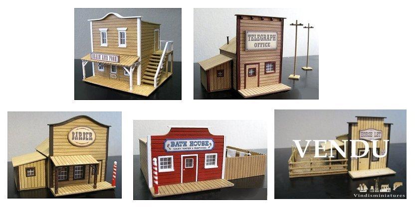 Vente - figurines FROSTGRAVE et bâtiments WESTERN 190415081051769373