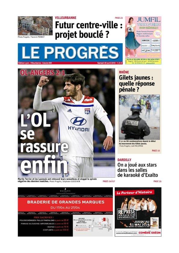 Le Progrès Lyon du samedi 20 avril 2019