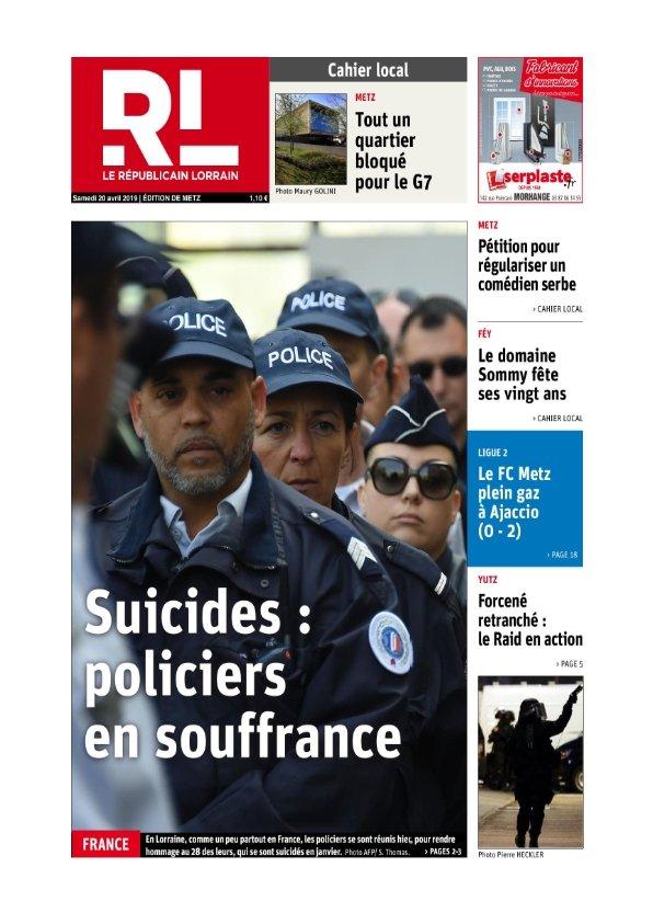 Le Républicain Lorrain Metz du samedi 20 avril 2019