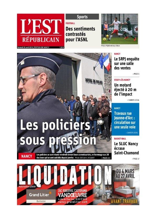 L'Est Républicain Nancy du samedi 20 avril 2019