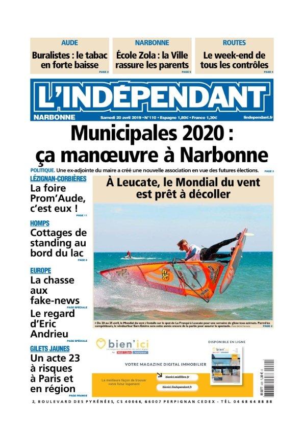 L'indépendant Narbonne du samedi 20 avril 2019