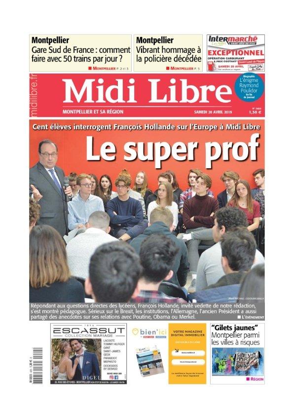Midi Libre Montpellier du samedi 20 avril 2019