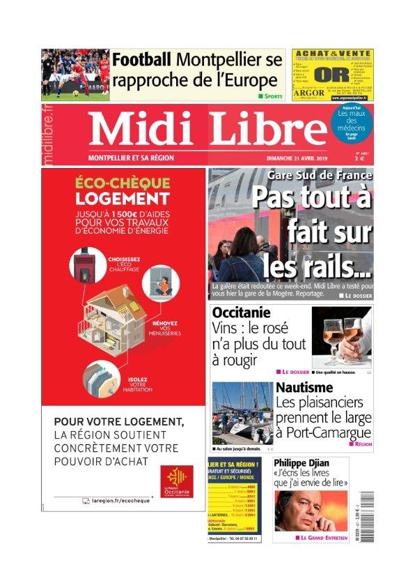 Midi Libre Montpellier du Dimanche 21 avril 2019