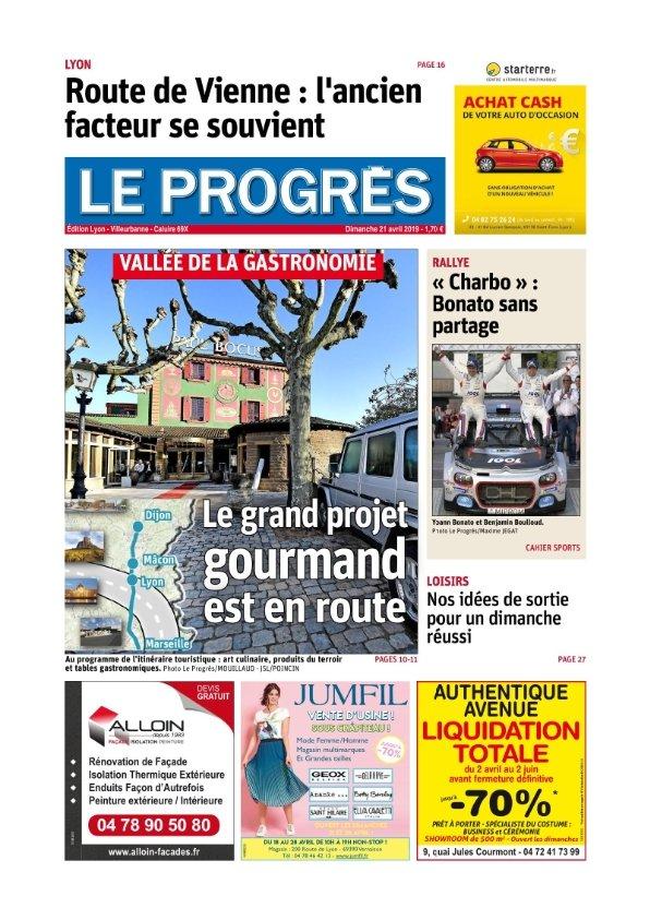 Le Progrès Lyon du Dimanche 21 avril 2019