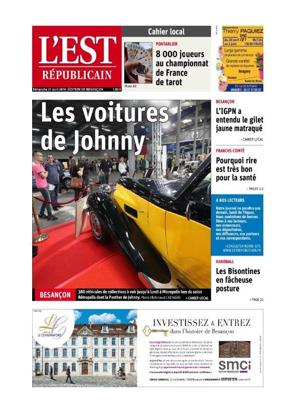 L'Est Républicain Besançon du Dimanche 21 avril 2019