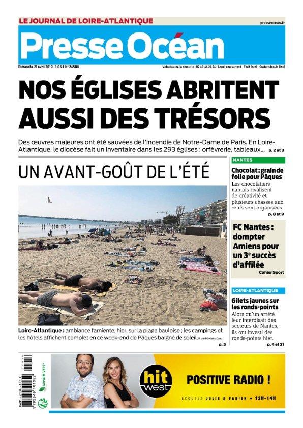 Presse Océan Nantes du Dimanche 21 avril 2019