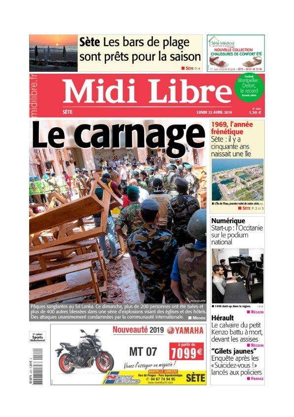 Midi Libre Sète du lundi 22 avril 2019