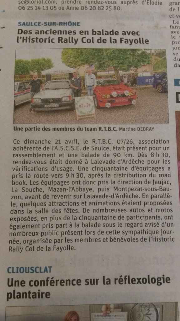 5 - Balade Historic Rally la Fayolle - 23 04 2019