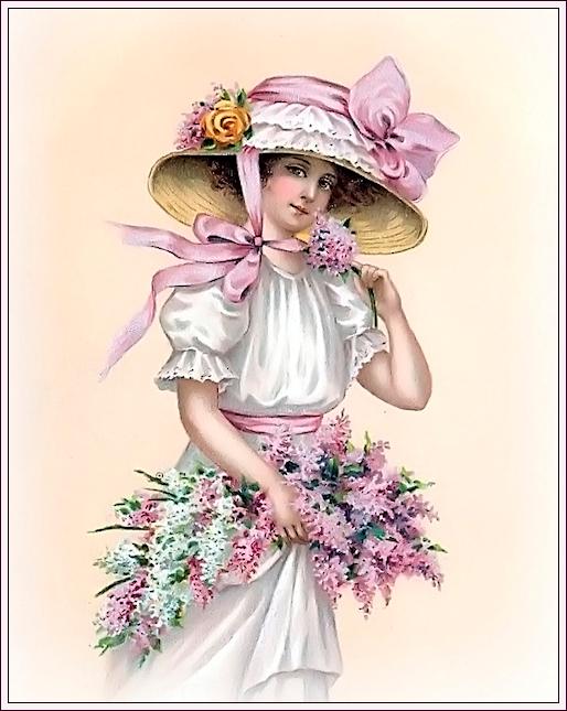 """Des élégantes  """"chapeautées"""" ... - Page 3 190503013203503136"""