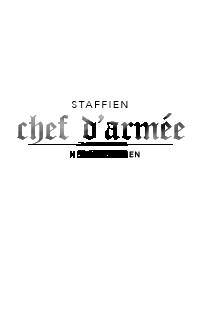 SOLDAT & STAFF ◊ chef d'armée