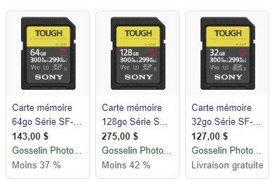 Nouvelles cartes SD Tough de Sony 190518041616560852