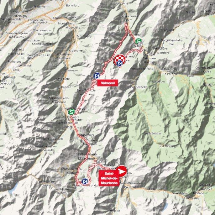 Tour de Savoie Mont-Blanc - étape 2 - parcours