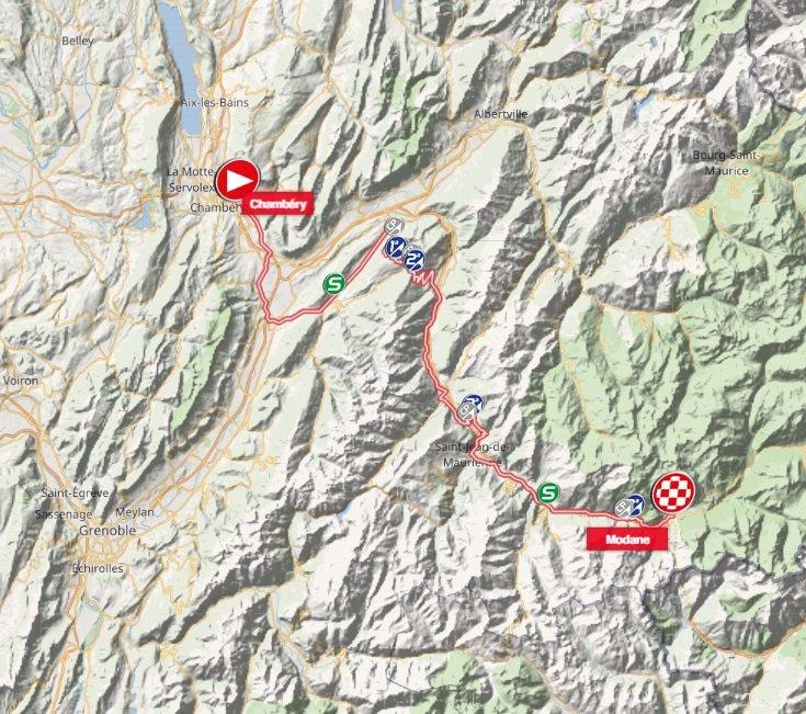 Tour de Savoie Mont-Blanc - étape 1 - parcours