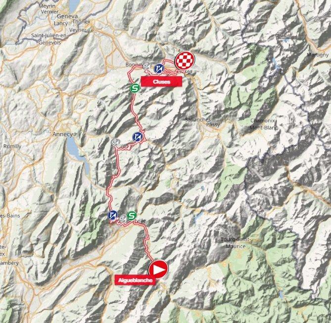 Tour de Savoie Mont-Blanc - étape 3 - parcours