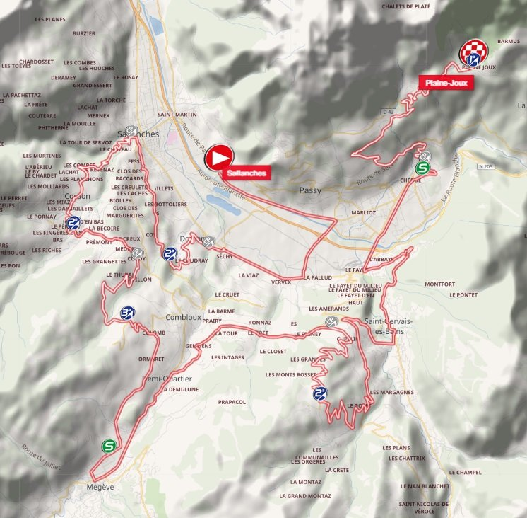 Tour de Savoie Mont-Blanc - étape 5 - parcours