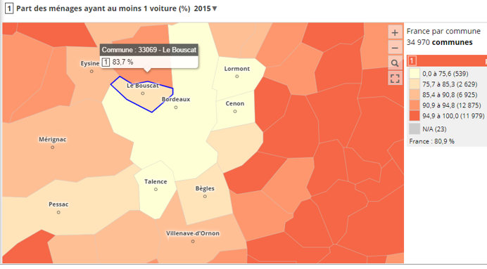 taux motor ménages, Bouscat, INSEE 2015
