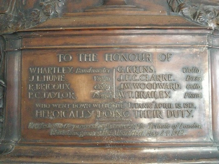Plaque commémorative des musiciens [Londres] 190609064827348186