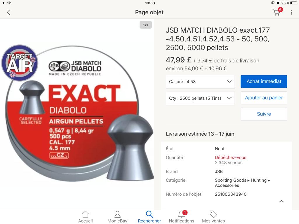 JSB Express 0.51 grammes en diamétre 0.53 ça éxiste? 190609075541576690