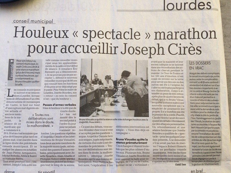 Spectacle Joe Cires