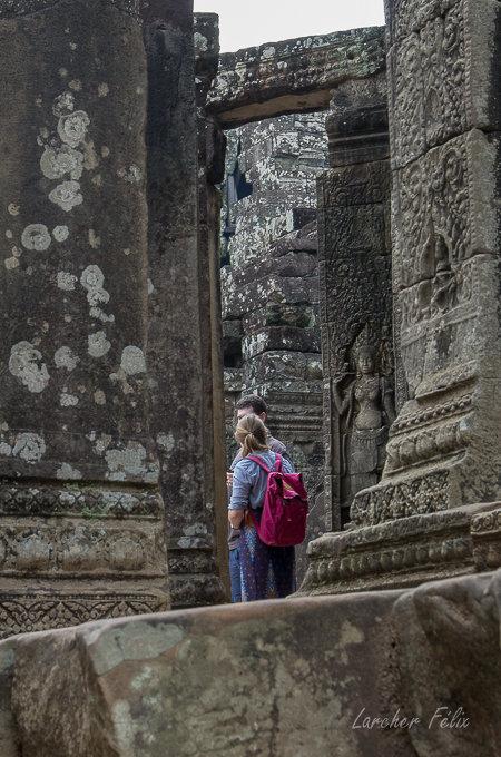 Fil orange dans les temples d'Angkor 190615073151561536