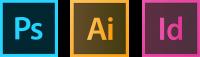logos photoshop, illustrator, indesign