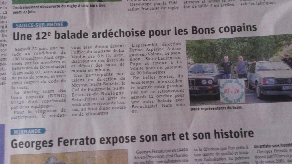 [07] 22/06/2019 - 12ème balade Ardéchoise départ à La Voulte - Page 3 19062508404630376