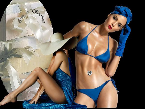 les deux filles en bleu mer