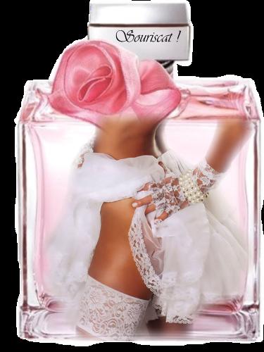 jarreti?re dans flacon rose